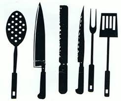 kitchen utensil clipart black and white. Fine Black Kitchen Utensils Utensilsscdale Scale24thCacau0027s For Utensil Clipart Black And White