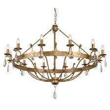 windsor large 12 light meval style chandelier in rich gold patina