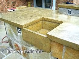 fashionable diy concrete sink sink diy concrete sink overlay