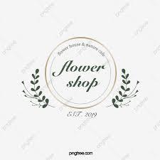 Floral Logo Design Free Download Simple Golden Border Floral Decorative Florist Logo Simple