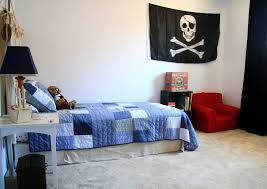 Blue And Red Boys Room With Pirate Accessories ...