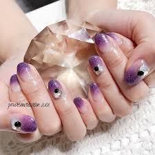 Privatenailsalon Luceさんのネイルデザイン ハロウィンにも最適紫