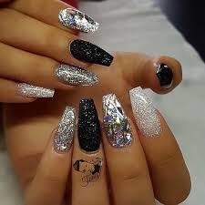 Part 2 Diamond Glitter Sliver Glitter Shimmery Black Silver And