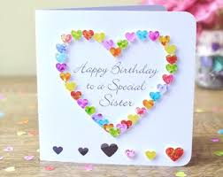Sister Birthday Card Etsy