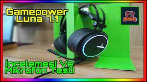 Gamepower Luna 7.1 Gaming Kulaklık İncelemesi Ve Mikrofon Testi - YouTube