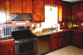 Painting Knotty Pine Cabinets Painting Old Kitchen Cabinets Before And After Design Images
