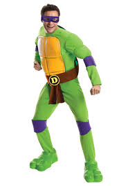 ninja turtles costumes for men. Delighful Men Deluxe TMNT Donatello Mens Costume Inside Ninja Turtles Costumes For Men