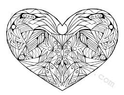 Small Picture Coloring Pages For Adults Hearts Coloring Pages