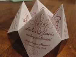 Cootie Catcher Diy Template - Amber Plans A Triple-Bottom-Line Wedding
