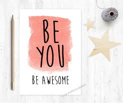 New Job Quotes New Be You Be Awesome Motivational Card Good Luck Graduation