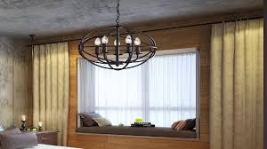 benita 5 light antique black metal strap globe chandelier