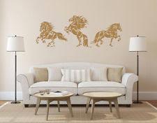 Set Of 3 Horses Wall Decal Horse Wall Sticker Horses Bedroom Decor Art Ik924