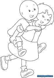 Caillou Printable Coloring Pages Free Printable Coloring Pages