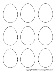 Easter egg, easter ornaments on eggs for kids. Easter Eggs Free Printable Templates Coloring Pages Firstpalette Com