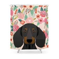 dachshund cute pet gifts black and tan dachshund gifts for dog lover with dog shower curtain
