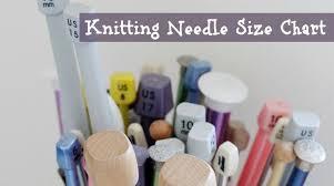 Knitting Needle Metric Us Uk Size Conversion Chart