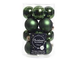 16 Weihnachtskugeln Glas 35mm Grün Piniengrün Weihnachtskugeln Baumkugeln Christbaumkugeln Christbaumschmuck Christbaum Kugeln Mini Dose