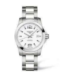 longines conquest men s automatic white dial stainless steel longines conquest men s automatic white dial stainless steel bracelet watch