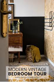 office designscom. Half Painted Wall In This Eclectic Small Bedroom Makeover / Grillo Designs Www.grillo- Office Designscom U