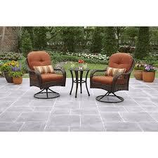 patio furniture bistro set wicker outdoor 3 pce orange orange ct patio furniture