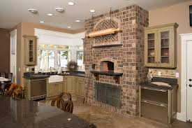 outdoor fireplace pizza oven combo kitchen traditional with black countertop brick pizza