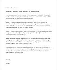 Free 8 Personal Letter Of Recommendation Samples