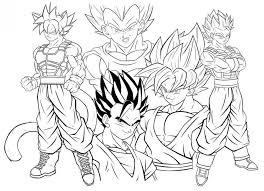 Dragon Ball Super Coloring Goku Black Printable Coloring Page For Kids