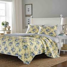 Laura Ashley Linley Reversible 2-piece Twin-size Quilt Set - On ... & Laura Ashley Linley Reversible 2-piece Twin-size Quilt Set Adamdwight.com