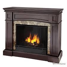 real flame bentley ventless gel fireplace in espresso