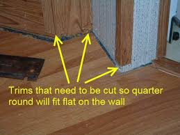 when installing quarter round in mobile homes after the laminate flooring is installed these trims