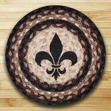 fleur de lis braided tablemat by capitol earth rugs the weed patch