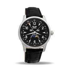 men s moon phase wristwatch selection of davis moon watches men s moon phase watch classic black dial black leather strap davis 1500