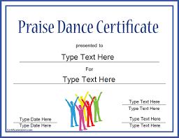 Dance Award Certificate Certificate Street Free Award Certificate Templates No