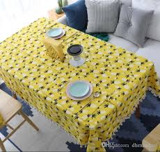 vintage party birthday table cloth large tassel linen coffee table cover tablecloth pineapple printed party supplies table liners white tablecloths