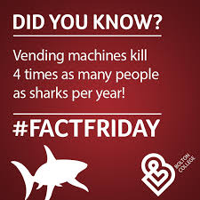 Vending Machine Kills Per Year Delectable Bolton College On Twitter FridayFact Vending Machines Kill 48
