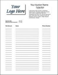 silent auction program template free printable silent auction template silent auction bid sheet