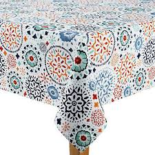 round umbrella tablecloth with zipper and hole medallion 70 inch outdoor fabric