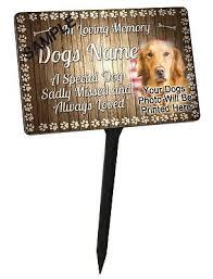 photo personalised dog memorial plaque