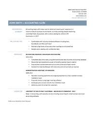 Account Receivable Clerk Resume Accounts Payable Resume Objective