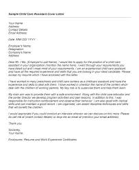 Cover Letter For Child Care Assistant Digiart