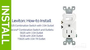 leviton presents how to install a combination device with a how to wire a light switch from a plug socket at Combination Switch Wiring Diagram