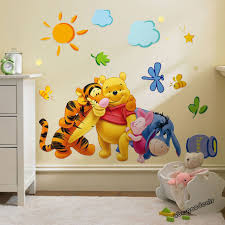 winnie the pooh nursery room wall decal decor stickers for kids baby b wsw