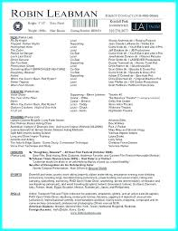 Acting Resume Template Fascinating Acting Resume Template Example Actor Resume Actors Resume Template