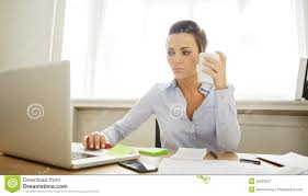 working for home office. beautiful businesswoman coffee computer cup desk holding home laptop office pretty sitting woman working for