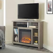 farmhouse entertainment senecaville corner 44 tv stand with fireplace