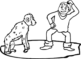 Small Picture Monkey And Boy Monkey Say What Coloring Page Wecoloringpage