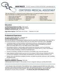 Resume For Medical Field Magnificent Examples Resumes Sample Resume For Nursing Resume Template For