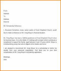 7 Scholarship Letter Of Recommendation From Teacher Appeal Letter