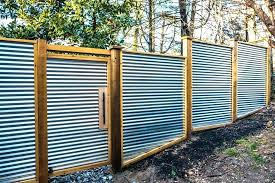 creative corrugated metal fence ideas with home panels iron