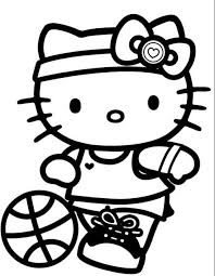 Small Picture Coloring Pages For Girls Hello Kitty Cartoon Coloring pages of